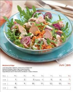Rezeptkalender Köstliches fürs ganze Jahr 2015 - Juni