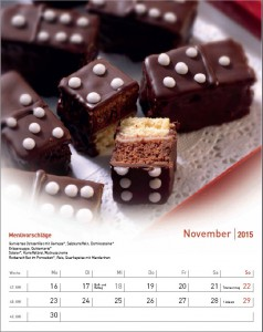 Rezeptkalender Köstliches fürs ganze Jahr 2015 - November